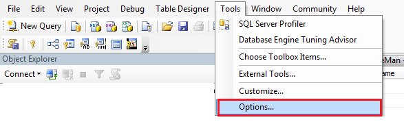 sql prevent saving changes